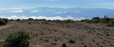 Above the clouds in Costa Rica. View above the clouds taken from the Irazu volcano crater, in Costa Rica Stock Photo