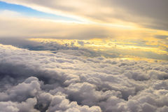 Above the clouds. At dawn Royalty Free Stock Photography