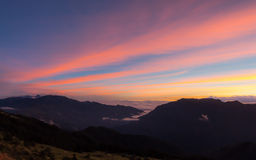 Above the clouds (Dawn) Royalty Free Stock Photos