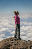 Above the clouds Kilimanjaro Stock Photography