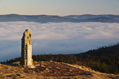 Above the clouds - Kralicky Sneznik in Czech Stock Photo