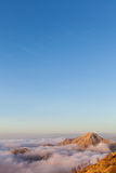 Above the clouds in Lovcen National Park Stock Photo