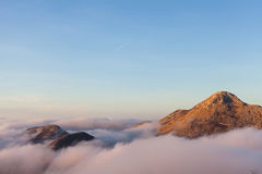 Above the clouds in Lovcen National Park Royalty Free Stock Images