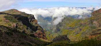 Above the clouds in Madeira stock photography