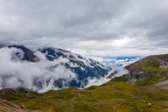 Above the clouds - Morning in mountains Stock Photos