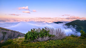 Above the clouds mountain panorama Royalty Free Stock Photos