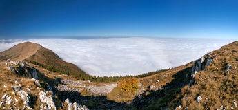Above the clouds - mountain panorama Royalty Free Stock Photography