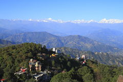Above the clouds in Nagarkot Royalty Free Stock Image