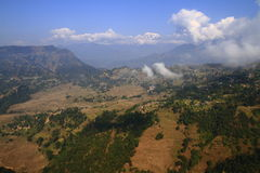 Above the clouds in Nepalese town Nagarkot Stock Photos