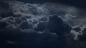 Above the clouds at night Stock Photography