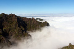 Above the clouds of the Pico do Areeiro Royalty Free Stock Photos