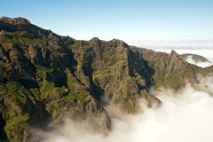 Above the clouds of the Pico do Areeiro Stock Photography