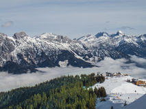 Above the clouds. Pila, Valle d'Aosta, Italy Stock Image