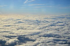 Above the Clouds. From a plane Stock Photo