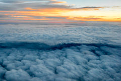 Above the Clouds. From a plane Royalty Free Stock Images