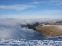 Above the clouds, Scottish Highlands. Near Glenshee Royalty Free Stock Photos
