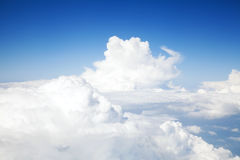 Above the clouds sky background Stock Photo