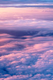 Above the clouds. Sky and clouds image taken form above while flying in a plane Stock Images