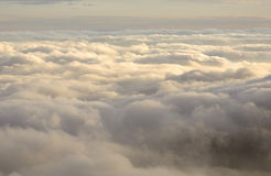 Above the Clouds. From summit of Mt. Wilson in California Royalty Free Stock Photography