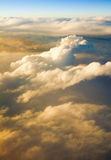 Above the clouds at sunset sunrise Stock Photos