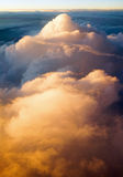 Above the clouds at sunset sunrise Royalty Free Stock Photos