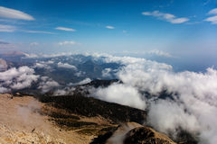 Above the clouds view Stock Images
