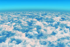 Above the clouds. View panoramic Stock Photos
