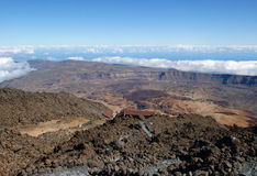 Above the clouds. View from Pico del Teide on Tenerife Royalty Free Stock Image