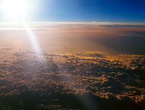 Above clouds. Royalty Free Stock Image