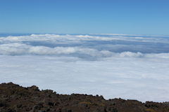 Above the Clouds. A view taken above the clouds in Hawaii at Haleakala Crater Royalty Free Stock Images