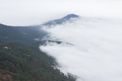Above the clouds. View from the top of Mount Ai-Petri Stock Photos