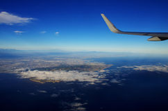 Above the clouds and west coast Royalty Free Stock Images