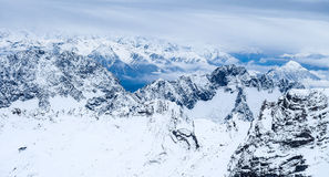 Above the Clouds Zugspitze travel photo - Germany's highest peak Stock Image
