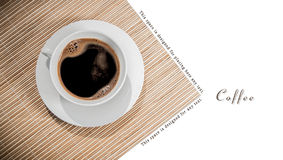 Above coffee cup Stock Photo