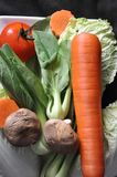 Above of Colorful Vegetables with Mushroom Royalty Free Stock Photos