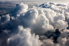 Above Dark Stormy Cumulonimbus Stock Image