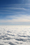 Above the deck - white clouds and blue sky Royalty Free Stock Photo