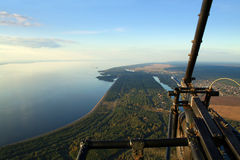 Above earth on a hang-glider Royalty Free Stock Images