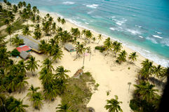 Above exotic beach Stock Photo