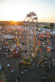 Above the Fair. A high angle view of the Orange County Fair Stock Images
