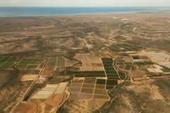 Above the fields of Baja California Royalty Free Stock Images