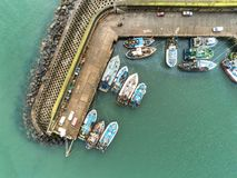 Above the Fishing Harbour stock photography
