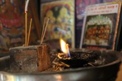 Above God, request,prayer,believe. Above god  prayer believe   dipak agarbati incensestick lamp stock photography