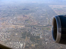 Above Greater Phoenix, AZ Royalty Free Stock Photo
