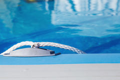 Above-ground inflatable swimming pool. Closeup Stock Image