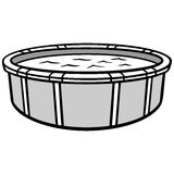 Above Ground Pool Illustration. A vector illustration of a Above Ground Pool Royalty Free Stock Photography