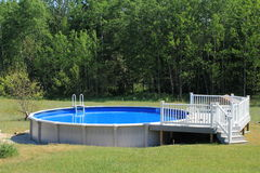 Above ground swimming pool Stock Images