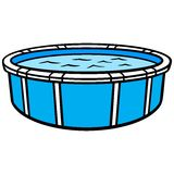 Above Ground Swimming Pool. Cartoon illustration of an Above Ground Swimming Pool Royalty Free Stock Images