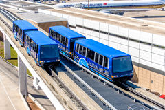 Above ground terminal connecting  tram at IAH airport Stock Photography