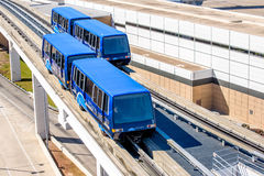 Above ground terminal connecting tram at IAH airport Royalty Free Stock Photo